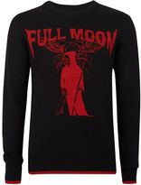 Topman Black Full Moon Intarsia Jumper
