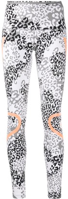 adidas by Stella McCartney TruePace animal-print leggings