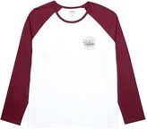Burton Mens Big & Tall Burgundy and White Raglan T-Shirt with Chest Print