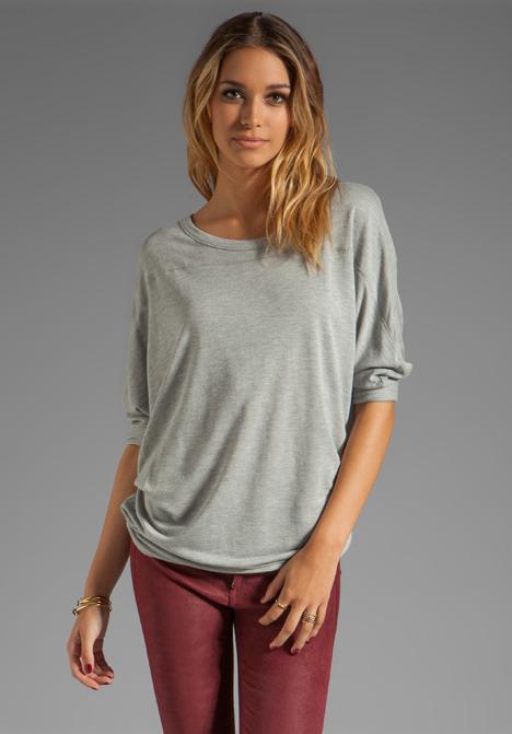 LAmade 3/4 Sleeve Boatneck Sweater