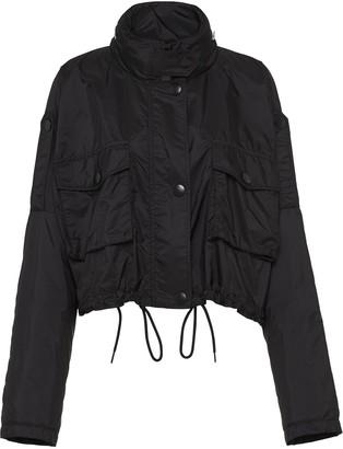 Prada Funnel Neck Cropped Jacket