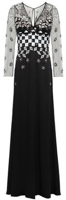 Temperley London Embellished Tulle And Satin-crepe Gown