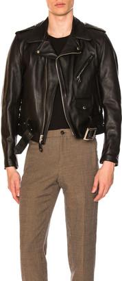 Schott One Star Perfecto Moto Jacket in Black | FWRD