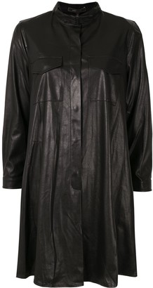 BCBGMAXAZRIA Leather Shirt Dress
