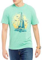 Daniel Cremieux Boat Print Short-Sleeve Crew Neck Graphic Tee