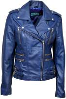 Smart Range Women's Mystique Vintage Retro Rockstar Motorcycle Designer Leather Jacket
