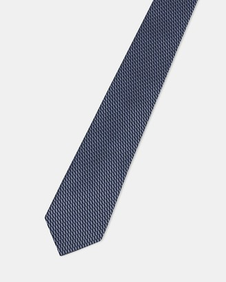 Theory Roadster Tie in Grid Silk