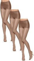 Hanes Women Set of 3 Silk Reflections Ultra Sheer Toeless Control Top Pantyhose CD