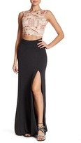 Clayton Sarah High Slit Maxi Skirt