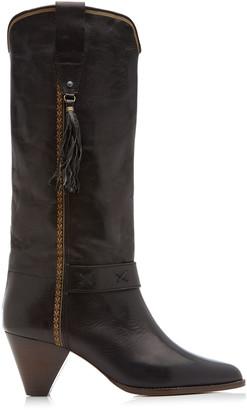 Isabel Marant Dulma Tasseled Leather Knee Boots
