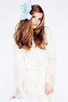 Wildfox Couture Snowflake Lennon Sweater in Clean White