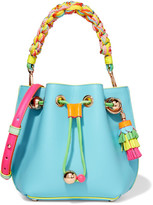 Sophia Webster Romy Mini Leather Bucket Bag - Blue