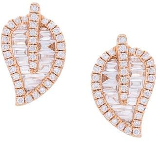 Anita Ko 18kt Rose Gold Medium Leaf Stud Diamond Earrings