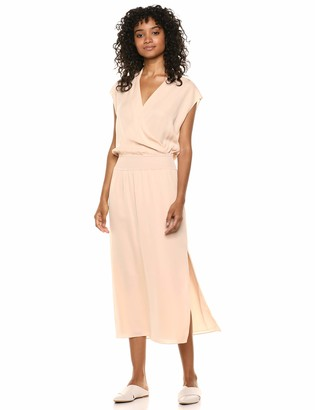 Theory Women's Sleeveless Draped Combo Dress
