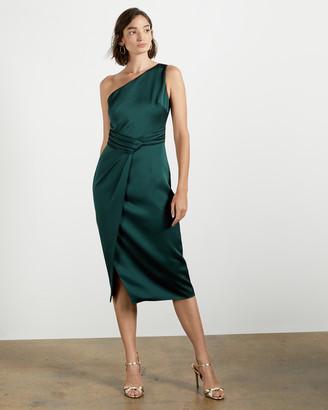 Ted Baker ZAARAA One Shoulder Fold Detail Dress