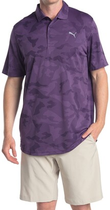 Puma Dark Purple ALTERKNIT Camo Golf Polo