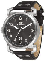 "Vestal Genuine Leather & Stainless Steel Watch ""Observer"""