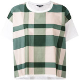 Sofie D'hoore checked boxy T-shirt - women - Cotton - 36