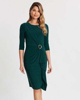 Wallis Ring Ruched Side Midi Dress