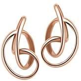 Fei Liu Fine Jewellery Serenity Sterling Silver Rose Gold Plated High Polish Stud Earrings SER925P-203-0000