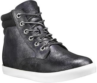 Timberland Women's Casual boots Black - Black Metallic Dausette Leather Sneaker Boot - Women