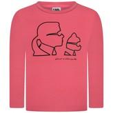 Karl Lagerfeld LagerfeldGirls Pink Choupette Print Top