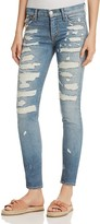 Hudson Nico Super Destructed Skinny Jeans in Southpaw