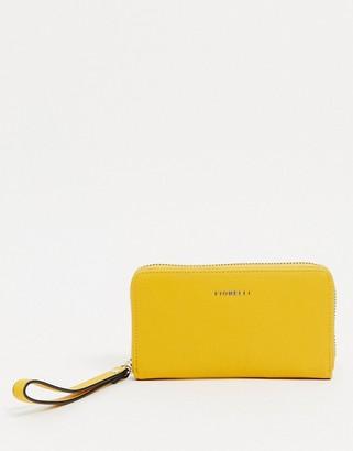 Fiorelli finley purse with wrist strap in yellow