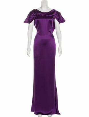 Alexander McQueen Silk Maxi Gown w/ Tags Violet