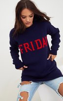 PrettyLittleThing Fuchsia Thursday Slogan Jumper