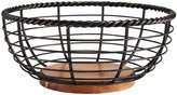 Mikasa Rope Round Wrought Iron & Wood Fruit Basket