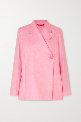 REMAIN Birger Christensen Vivi Linen Blazer - Pink
