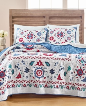 Martha Stewart Collection Vintage Folklore Twin/Twin Xl Quilt, Created for Macy's