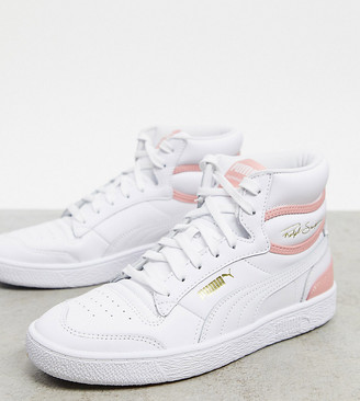 Puma Ralph Sampson mid trainers in pink/white