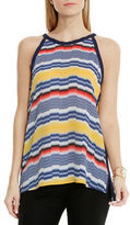 Vince Camuto Port Stripe Halter Blouse