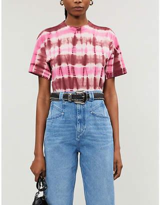 Etoile Isabel Marant Dena tie-dyed cotton-jersey T-shirt