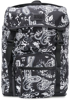 Versace Jeans Couture Paisley-Print Drawstring Backpack