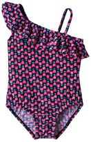 Osh Kosh Girls 4-6x Tulip Print Asymmetrical One-Piece Swimsuit