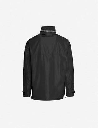 McQ Brand-print funnel-neck shell jacket