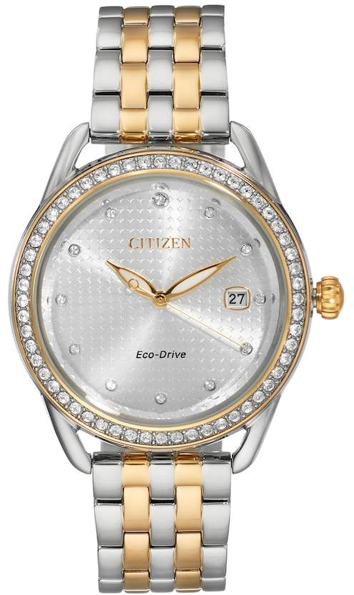 Citizen Drive From Eco-Drive Women's LTR Crystal Two-Tone Stainless Steel Watch - FE6114-54A