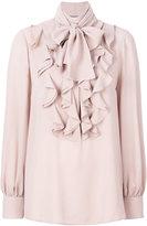 Alexander McQueen ruffled bell sleeve blouse - women - Silk - 40