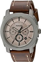 Fossil Men's FS5215 Machine Chronograph Brown Leather Watch