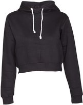 FASHION HIGH Womens Ladies Plain Crop Hoodies (, M-L)