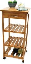 Lipper Bamboo Rolling Cart with Wine Rack