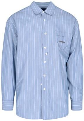 Ader Error Asymmetric Hem Striped Shirt
