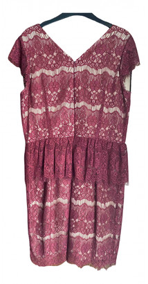 Anthropologie Burgundy Lace Dresses