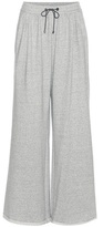 Brunello Cucinelli Embellished cotton wide-leg track pants
