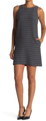 Tommy Hilfiger Striped Seersucker Sleeveless Shift Dress