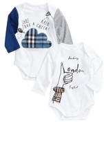 Burberry Infant Boy's 2-Pack Bodysuits