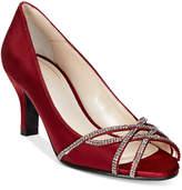 Caparros Eliza Peep-Toe Evening Pumps Women's Shoes